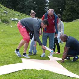 Les exercices d'un Team building
